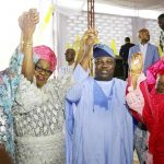 Gov. Ambode and other dignitaries at the year 2016 Eid- el-Kabir celebrstion at the LTV, Blue roof, Ikeja